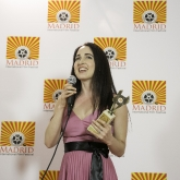 Catherine Black accepts Best Lead Actress Award
