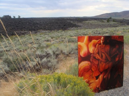 Red Dance By Catherine Black in Craters Of The Moon
