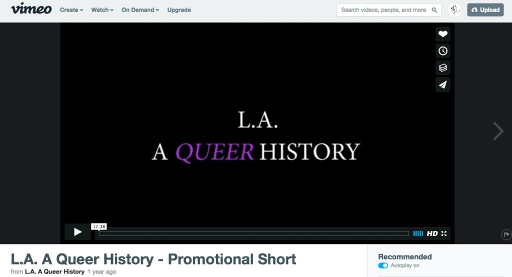 LA A QUEER HISTORY