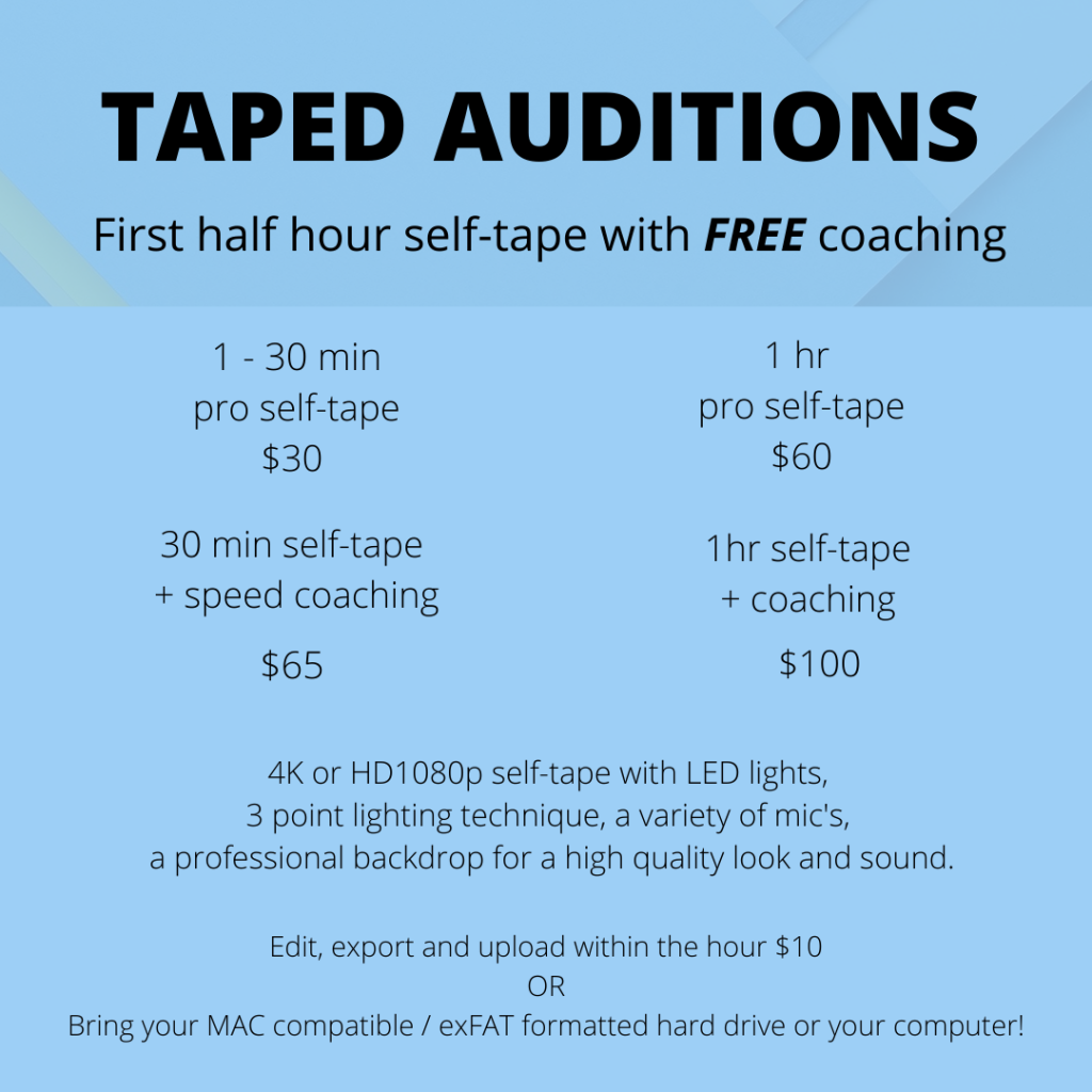 Taped Auditions Toronto